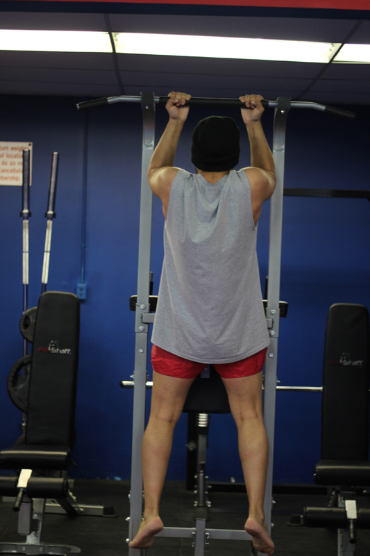 Ultimate Martial Arts weight room pull ups