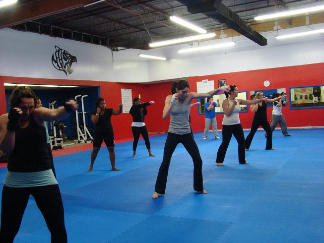 Ultimate Martial Arts shadow boxing warm up womens class